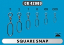 Застежка CONDOR Square Snap № 000 /42009/ 10шт